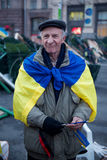 Protest on Euromaydan in Kiev against the president Yanukovych Stock Image