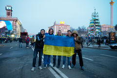 Protest on Euromaydan in Kiev against the president Yanukovych Stock Photography