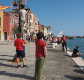 Protest event in Venice Royalty Free Stock Images