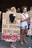protest för 19j barcelona Royaltyfri Foto
