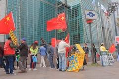 Protest för kinesiskt folk mot Japan Arkivfoto