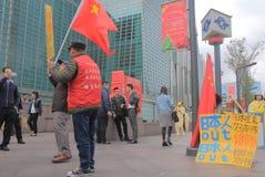 Protest för kinesiskt folk mot Japan Royaltyfri Bild