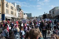 Protest för mars för kvinna` s i Montgomery Royaltyfri Bild