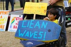 Protest för olje- Spill- Arkivbild