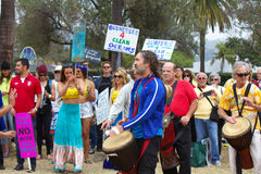 Protest för olje- Spill- Arkivbilder