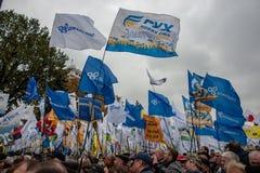 Protest för stor politisk reform Arkivbilder