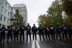 Protest för stor politisk reform Royaltyfria Foton