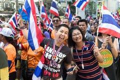 Protest för thailändskt folk i Bangkok Royaltyfria Bilder