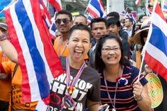 Protest för thailändskt folk i Bangkok Royaltyfri Fotografi