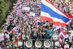 Protest för thailändskt folk i Bangkok Royaltyfria Foton