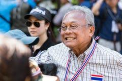 Protest för thailändskt folk i Bangkok Arkivfoto
