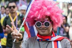 Protest för thailändskt folk i Bangkok Arkivfoton