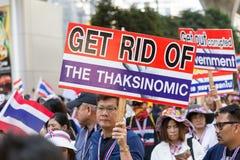 Protest för thailändskt folk i Bangkok Arkivbild