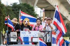 Protest för thailändskt folk i Bangkok Royaltyfri Bild