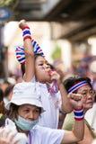 Protest för thailändskt folk i Bangkok Fotografering för Bildbyråer