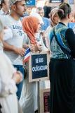 Protest för Uyghur mänsklig rättighetaktivister Royaltyfria Bilder