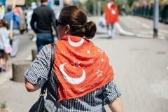 Protest för Uyghur mänsklig rättighetaktivister Arkivfoton