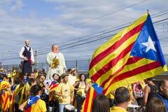 Protest für Katalonien-Unabhängigkeit Stockfotos