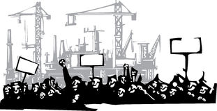 Protest Factory 2 vector illustration