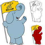 Protest Flag Elephant Royalty Free Stock Images
