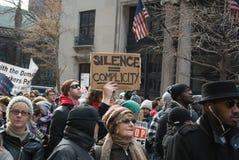 Protest för svartlivfråga Royaltyfri Foto