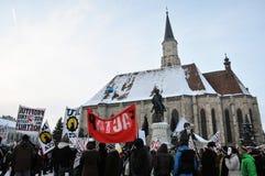Protest gegen ACTA und Regierung Lizenzfreies Stockbild