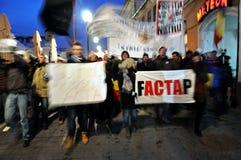 Protest gegen ACTA und Regierung Stockfotos
