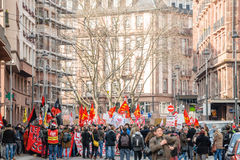 Protest gegen Arbeitsreformen in Frankreich Lizenzfreies Stockbild