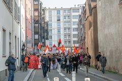 Protest gegen Arbeitsreformen in Frankreich Stockfoto
