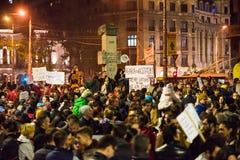 Protest gegen coruption und rumänische Regierung Lizenzfreie Stockbilder