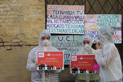 Protest gegen die Banken 02 Lizenzfreies Stockbild