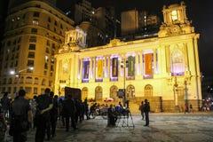 Protest gegen Michel Temer verliert Kraft in Rio de Janeiro Stockfoto