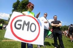 Protest gegen Monsanto, Zagreb, Kroatien Stockbilder