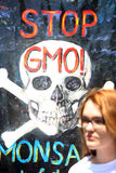 Protest gegen Monsanto, Zagreb, Kroatien Lizenzfreie Stockbilder