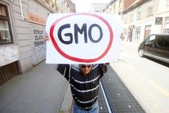 Protest gegen Monsanto, Zagreb, Kroatien Stockfotos