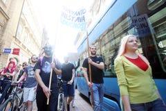 Protest gegen Monsanto, Zagreb, Kroatien Lizenzfreie Stockfotos