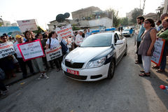 Protest gegen Ost-Jerusalem-Regelungen Stockbild