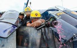 Protest gegen philippinischen Präsidenten Aquino lizenzfreie stockbilder