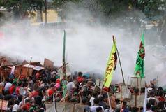 Protest gegen philippinischen Präsidenten Aquino lizenzfreies stockbild