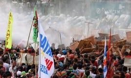 Protest gegen philippinischen Präsidenten Aquino stockfotos