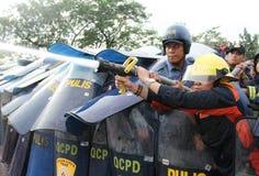 Protest gegen philippinischen Präsidenten Aquino lizenzfreie stockfotografie