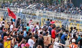 Protest gegen philippinischen Präsidenten Aquino stockbild