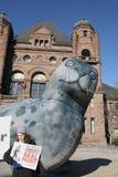 Protest gegen Robbenjagd Lizenzfreies Stockbild