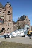 Protest gegen Robbenjagd Stockfoto