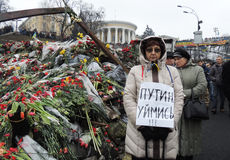 Protest gegen russische Invasion von Krim. Lizenzfreie Stockfotos