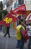 Protest gegen Strengeschnitte Stockfoto