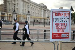 Protest against Trump on his visit in England on June 2019