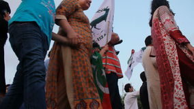 Protest gegen unfaire Wahlen in Pakistan stock footage