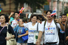 Protest government in thailand Stock Photos