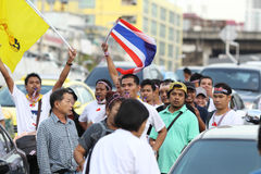 Protest government in thailand Royalty Free Stock Photo